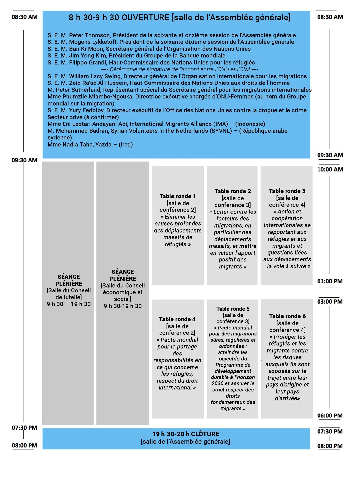 Programme Réunion haut niveau