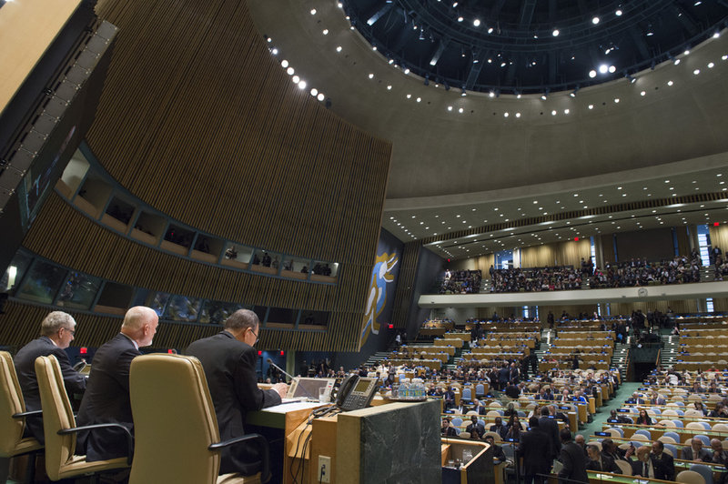 UN General Assembly adopts the New York Declaration on 19 September
