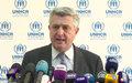 Le chef du HCR appelle la France à promouvoir des politiques solidaires envers les réfugiés en Europe