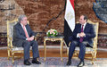 In Cairo, UN chief Guterres underscores political solutions to ease tensions in regional hotspots