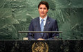 Rather than stoke anxiety, politicians should work to improve livelihoods, Canada's Trudeau tells UN