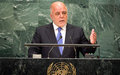 Serious global collaboration needed in war on terrorism, Iraqi premier tells UN Assembly