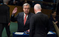 Taking oath of office, António Guterres pledges to work for peace, development and a reformed United Nations
